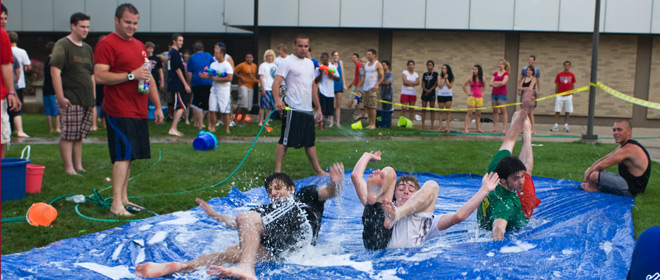 Campus Water Fight